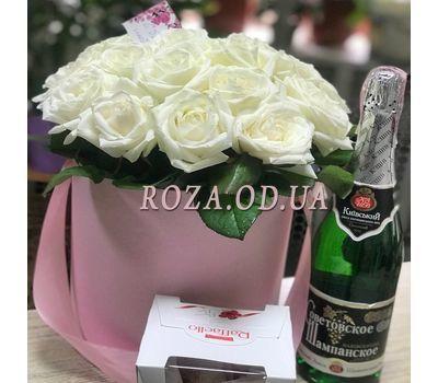 """21 роза в коробке 3"" в интернет-магазине цветов roza.od.ua"