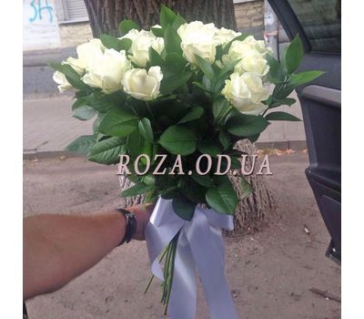 """25 white roses 1"" in the online flower shop roza.od.ua"