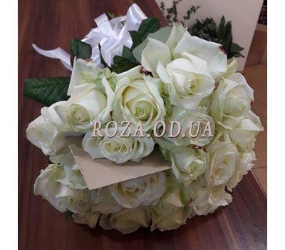 """""""25 белых роз в букете 1"""" в интернет-магазине цветов roza.od.ua"""