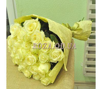"""""""25 белых роз в букете 2"""" в интернет-магазине цветов roza.od.ua"""