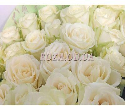 """""""25 белых роз в букете 4"""" в интернет-магазине цветов roza.od.ua"""