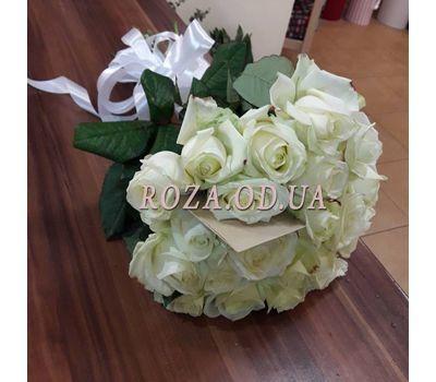 """""""25 белых роз в букете 5"""" в интернет-магазине цветов roza.od.ua"""