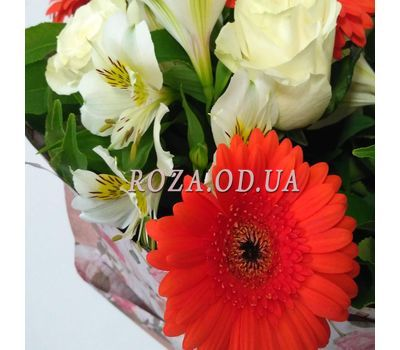 """Bouquet of roses, gerberas and alstromeries 2"" in the online flower shop roza.od.ua"