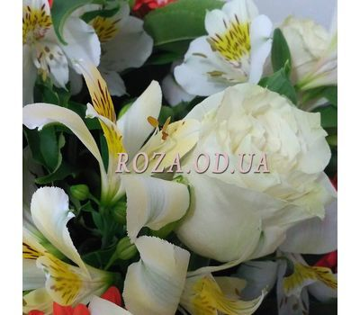 """Bouquet of roses, gerberas and alstromeries 3"" in the online flower shop roza.od.ua"