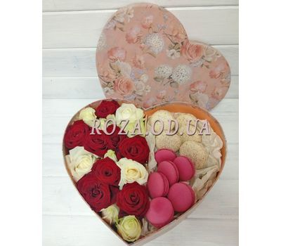 """Box Macarons 1"" in the online flower shop roza.od.ua"