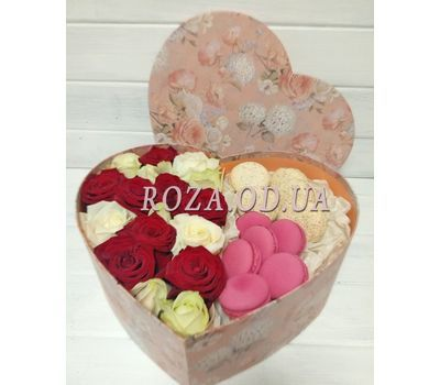 """Box Macarons 2"" in the online flower shop roza.od.ua"