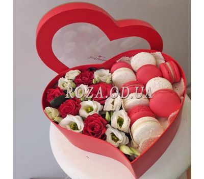 """Box Macarons 3"" in the online flower shop roza.od.ua"