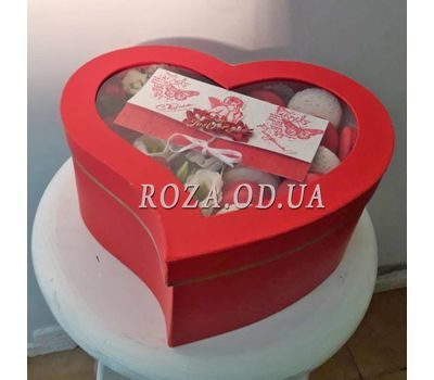 """Box Macarons 4"" in the online flower shop roza.od.ua"