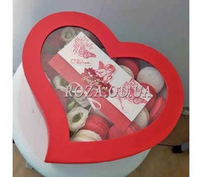 """Box Macarons 5"" in the online flower shop roza.od.ua"