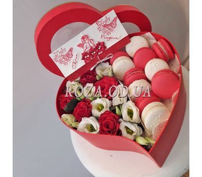 """Box Macarons 6"" in the online flower shop roza.od.ua"