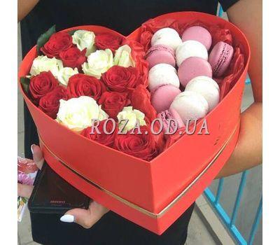 """Коробка з макарунами 7"" в интернет-магазине цветов roza.od.ua"
