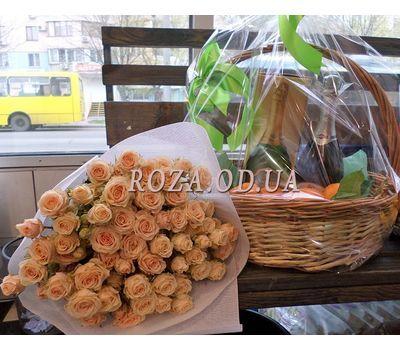 """Корзина с мандаринами и шампанским 1"" в интернет-магазине цветов roza.od.ua"