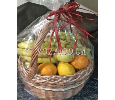 """""""Basket of juicy fruits - photo 6"""" in the online flower shop roza.od.ua"""