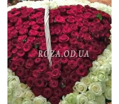 """""""Heart of 350 roses 3"""" in the online flower shop roza.od.ua"""
