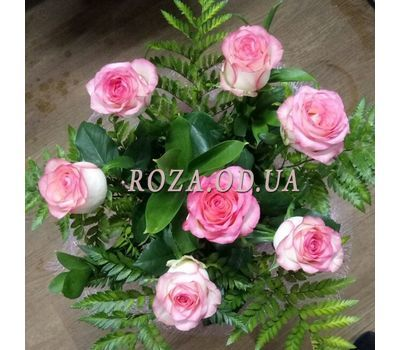 """7 pink roses 1"" in the online flower shop roza.od.ua"