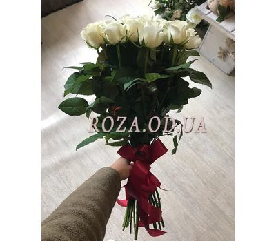 """21 white roses 1"" in the online flower shop roza.od.ua"
