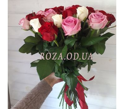 """35 multicolored roses 2"" in the online flower shop roza.od.ua"