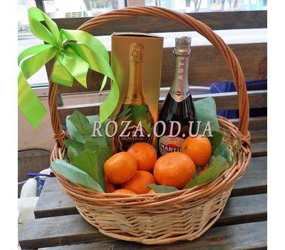 """Корзина с мандаринами и шампанским 3"" в интернет-магазине цветов roza.od.ua"