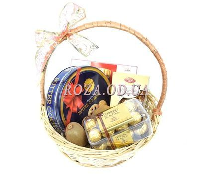 """""""Basket of sweets for tea"""" in the online flower shop roza.od.ua"""