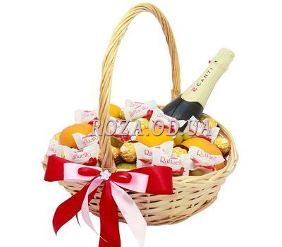 """Gift Basket with Martini Asti"" in the online flower shop roza.od.ua"