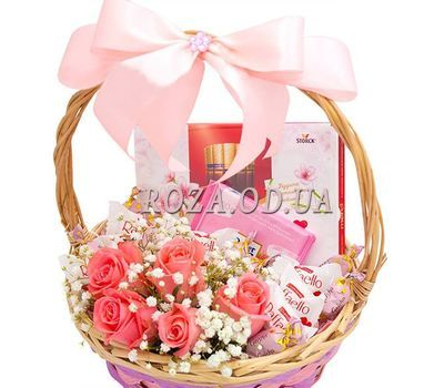 """Beautiful gift basket"" in the online flower shop roza.od.ua"