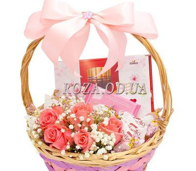 """Beautiful gift basket 2"" in the online flower shop roza.od.ua"