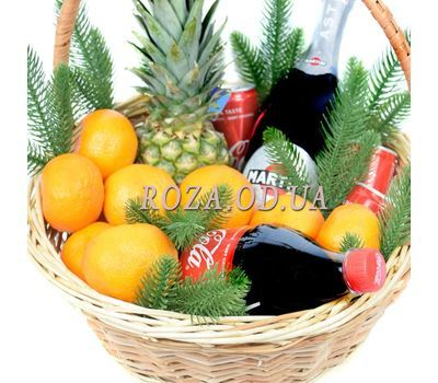 """New Year's Gift Basket with Asti Martini 1"" in the online flower shop roza.od.ua"