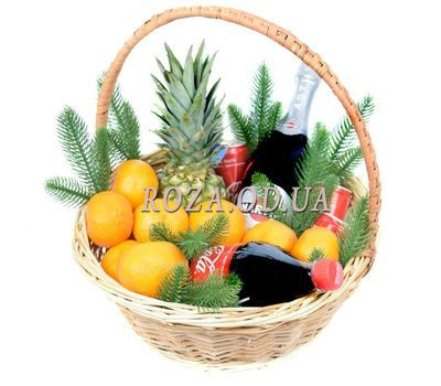 """New Year's Gift Basket with Asti Martini"" in the online flower shop roza.od.ua"