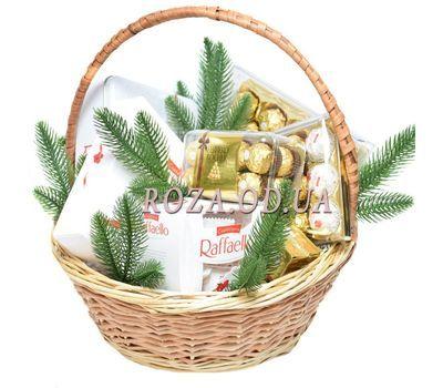 """Ferrero Rocher and Raffaello New Year's gift basket 1"" in the online flower shop roza.od.ua"