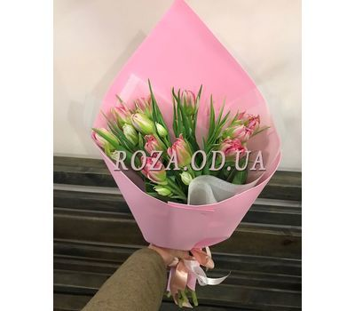 """11 multicolored tulips 1"" in the online flower shop roza.od.ua"