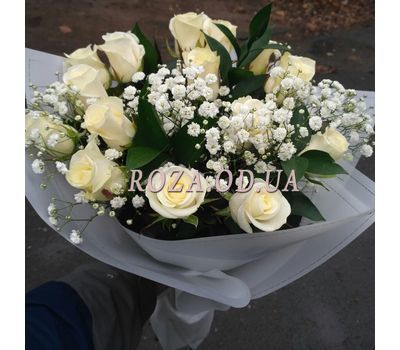 """15 white roses 1"" in the online flower shop roza.od.ua"