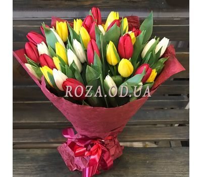 """""""45 colorful tulips 2"""" in the online flower shop roza.od.ua"""