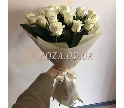 """21 white roses 2"" in the online flower shop roza.od.ua"