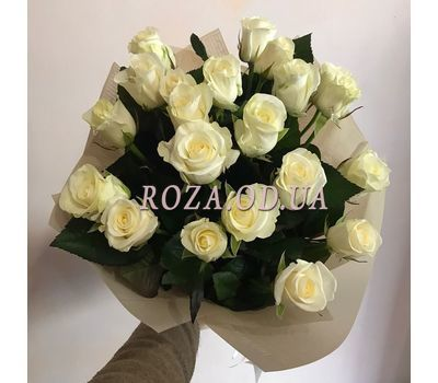 """21 white roses 3"" in the online flower shop roza.od.ua"