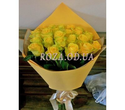 """25 yellow roses 1"" in the online flower shop roza.od.ua"