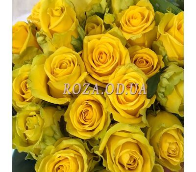 """25 yellow roses 3"" in the online flower shop roza.od.ua"