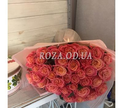 """""""Bouquet of 35 roses Miss Piggy 1"""" in the online flower shop roza.od.ua"""