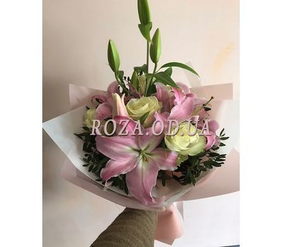 """Bouquet of lilies and irises 1"" in the online flower shop roza.od.ua"