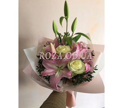 """Bouquet of lilies and irises 2"" in the online flower shop roza.od.ua"