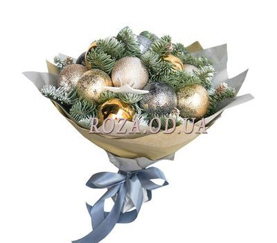 """Bouquet of Christmas balls 1"" in the online flower shop roza.od.ua"