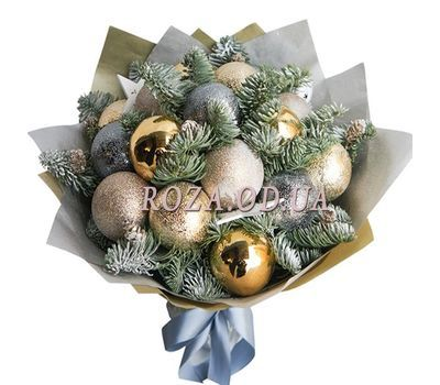 """Bouquet of Christmas balls 2"" in the online flower shop roza.od.ua"