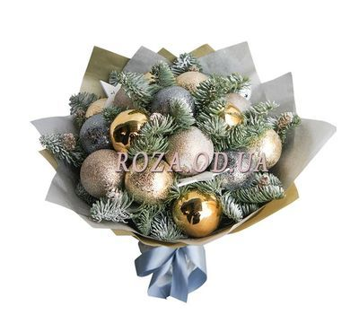 """Bouquet of Christmas balls"" in the online flower shop roza.od.ua"