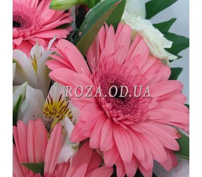 """Bouquet of roses, gerberas and alstromeries 4"" in the online flower shop roza.od.ua"