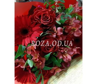 """""""Gerberas and roses in bouquet 1"""" in the online flower shop roza.od.ua"""