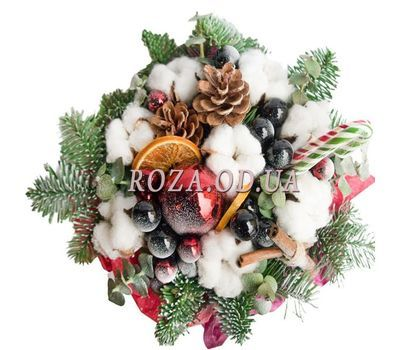 """""""Christmas composition in a box 2"""" in the online flower shop roza.od.ua"""