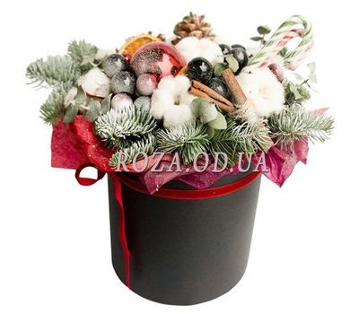 """""""Christmas composition in a box"""" in the online flower shop roza.od.ua"""