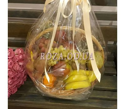 """""""Huge basket of fruit 10"""" in the online flower shop roza.od.ua"""