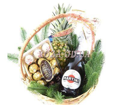 """Ferrero Rocher Christmas Gift Basket"" in the online flower shop roza.od.ua"