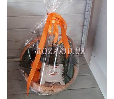 """Champagne christmas basket 1"" in the online flower shop roza.od.ua"