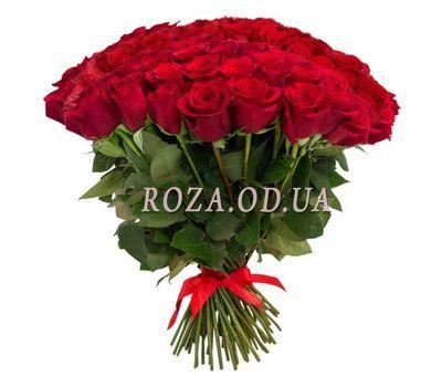 """101 красная роза 50 см"" в интернет-магазине цветов roza.od.ua"